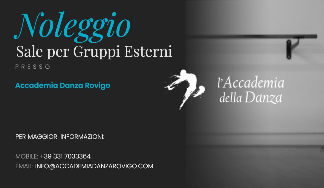 Noleggio Sale per Gruppi Esterni presso l'Accademia Danza Rovigo